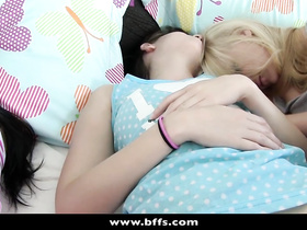 Naughty guy desired to fuck sleeping young girlfriends