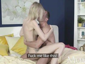 Super skinny milf enjoys George Uhl's large sex machine