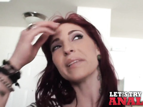 Redhead milf gets seduced for pleasant hardcore fuck