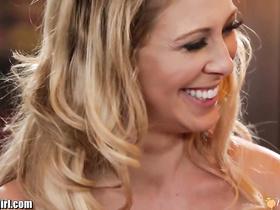 Wonderful blonde girlfriends got horny at the kitchen