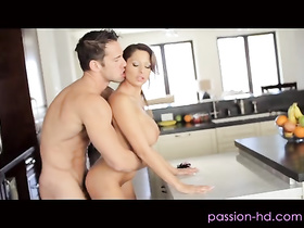 Milf Alison Star serves a bj in the kitchen