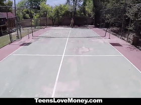 Tennis training ends with passionate hardcore fuck