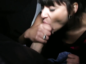 Amateur fuck in public place for cash, POV
