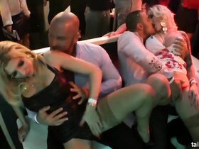 Sexy party dancers plunge into rough fucking