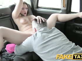 Cab driver seduces hot blonde to suck his cock and bangs her cunt