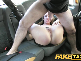 Sexy hot blonde got seduced and fucked by fake taxi driver