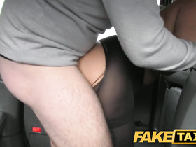 Slutty looking blonde got passionately fucked in the cab