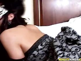 Sluts in masks are pleasuring lesbian threesome action