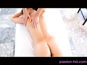 Holly Michaels massaged and cream pied by Kevin Crows