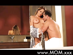 Big titted woman exclusive fuck in the bathroom