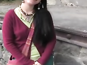 Classy amateur girl public creampie, POV