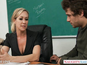 Stockings girl Brandi Love crazy sex in the office